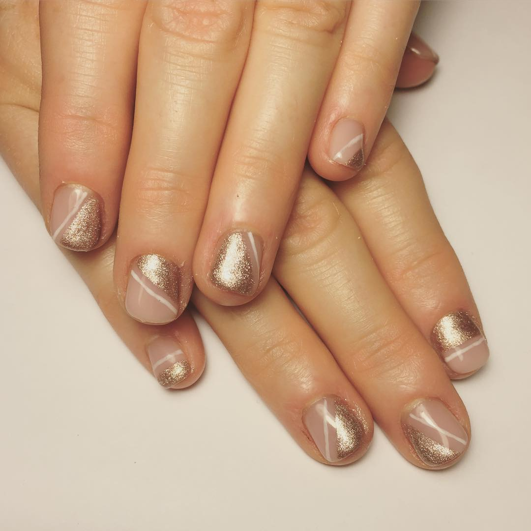 Simple Gold Nail Design