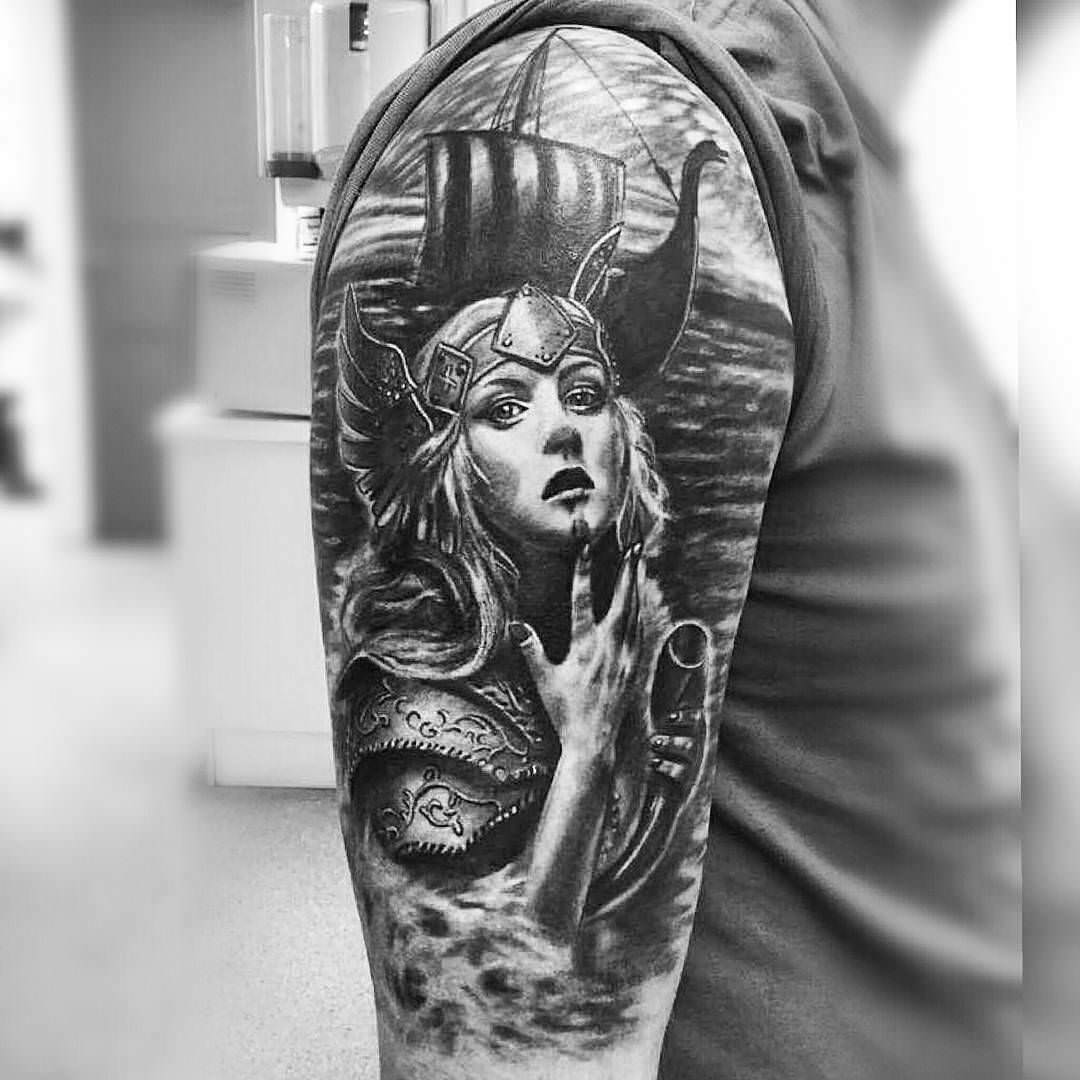Realism Tattoo For Woman: 25+ Viking Tattoo Designs, Ideas