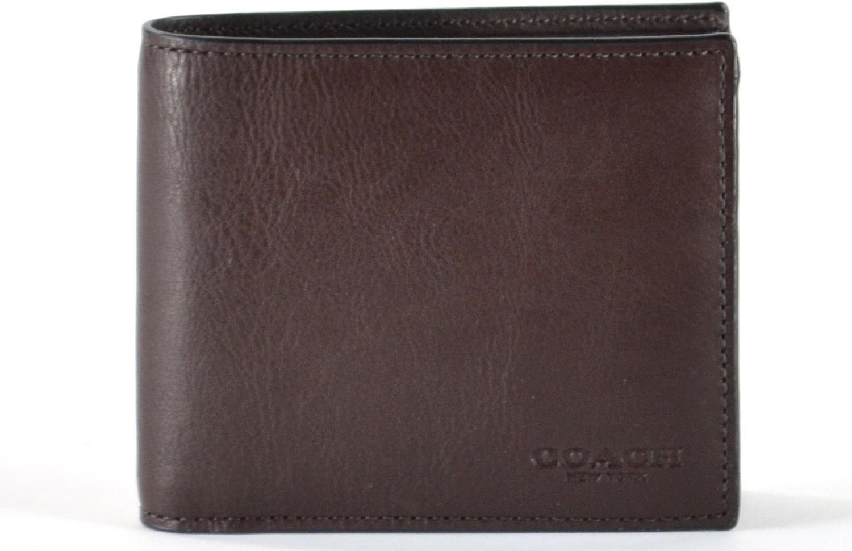 Coach Compact ID Sport Calf Bifold Wallet