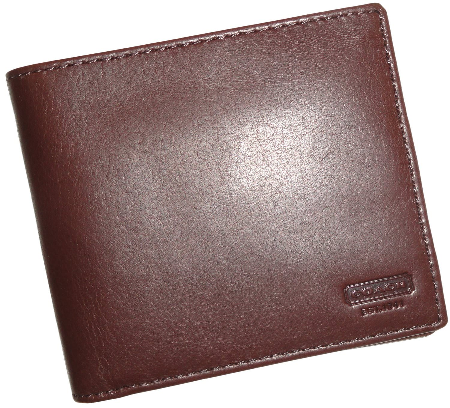 brown leather double billfold wallet4