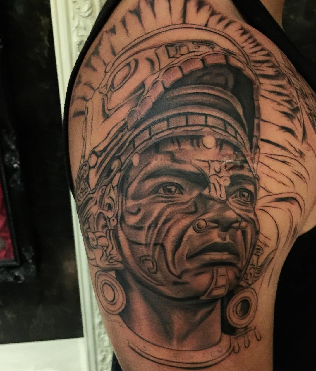 Awesome Aztec Tattoo Design