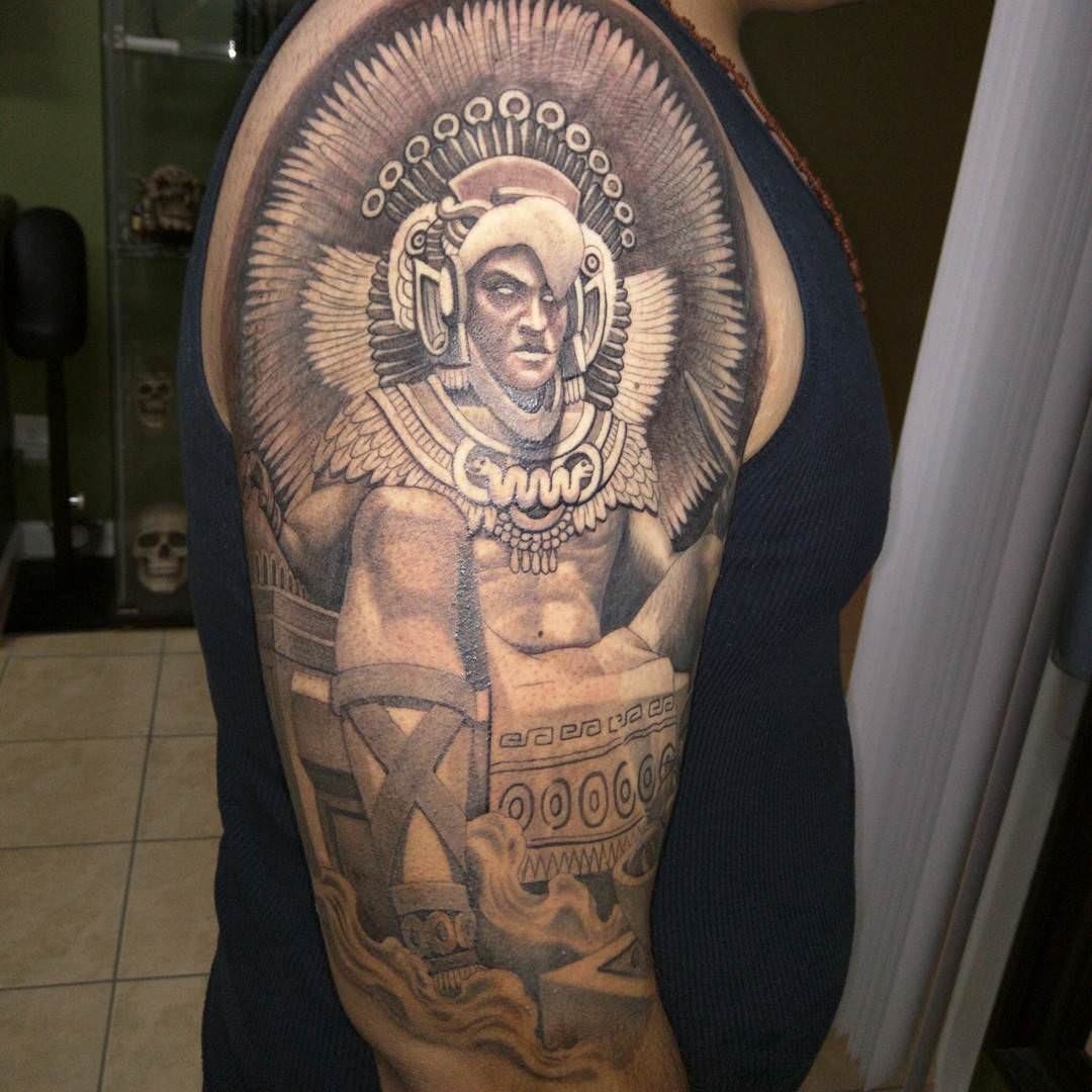 Cool Tattoo of Aztec Warrior