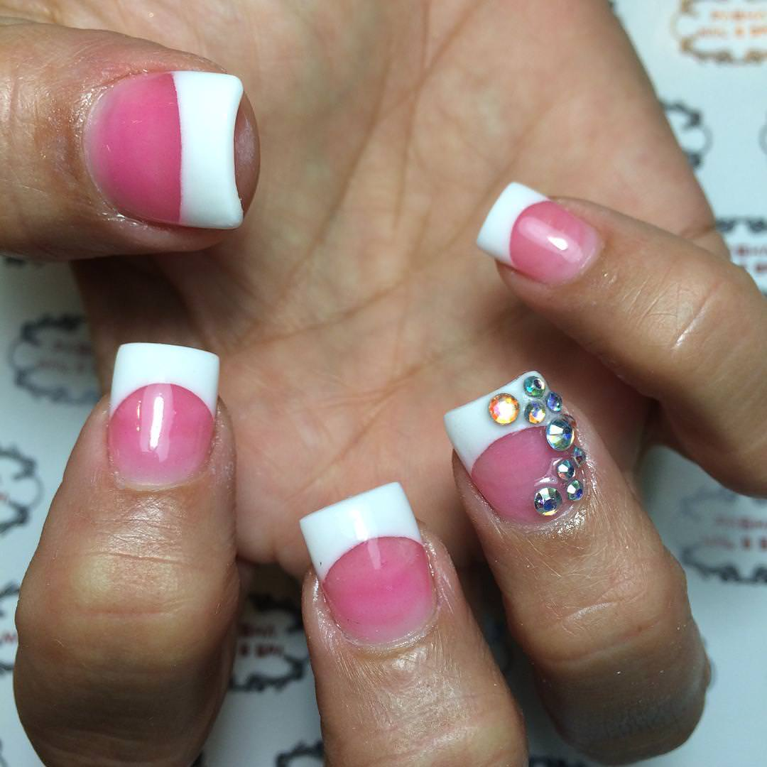 23 Pink White Nail Art Designs Ideas Design Trends