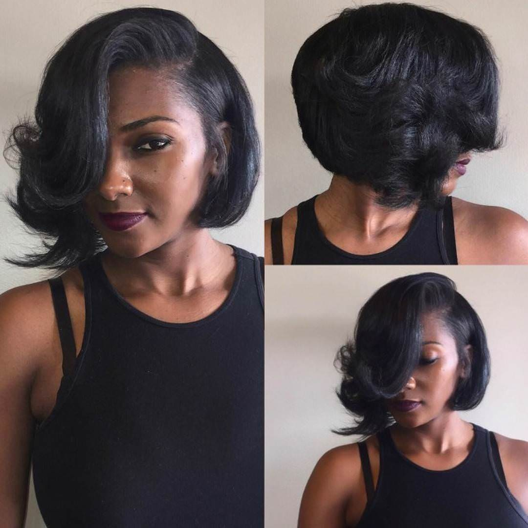 Feathered Bob Hairstyles For Black Women Images & Pictures - Becuo