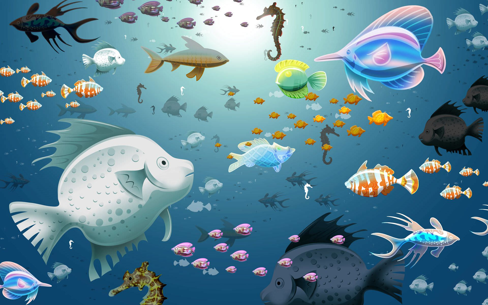 Animated Aquarium Fishes Background
