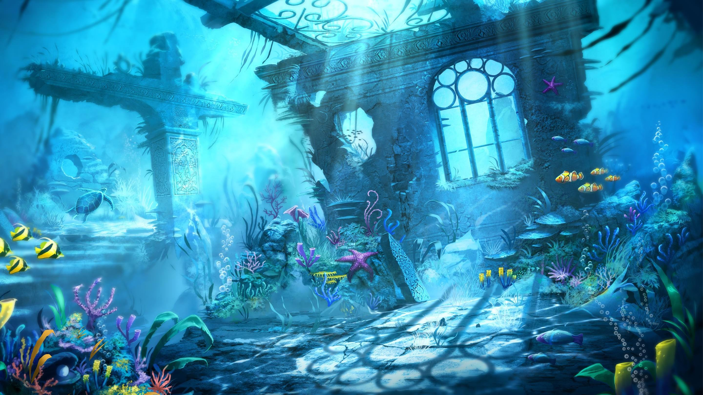 trine underwater background