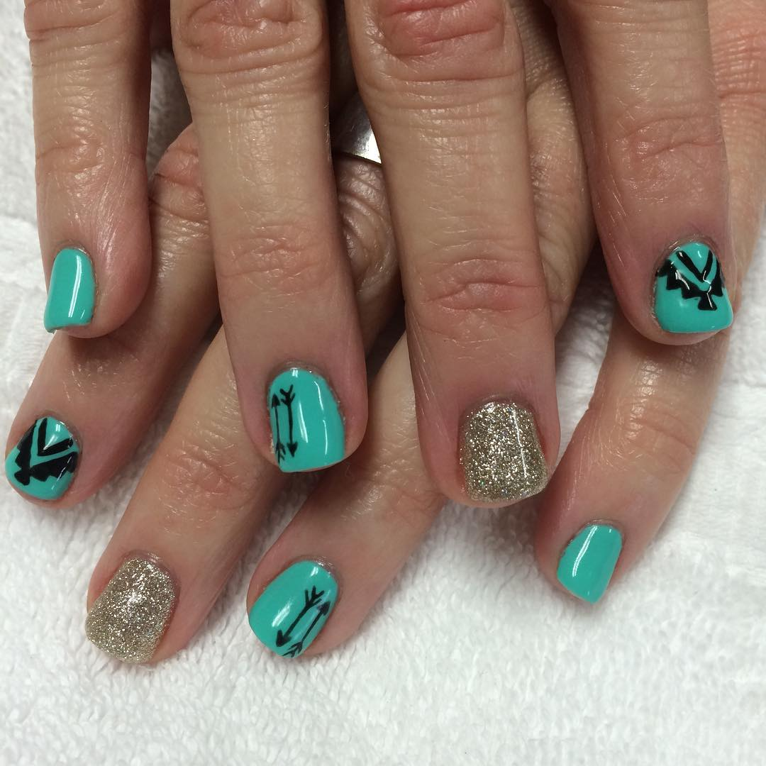 Cool Nail Art: 20+ Turquoise Nail Art Designs, Ideas