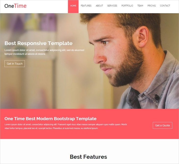 Corporate Bootstrap Website Template