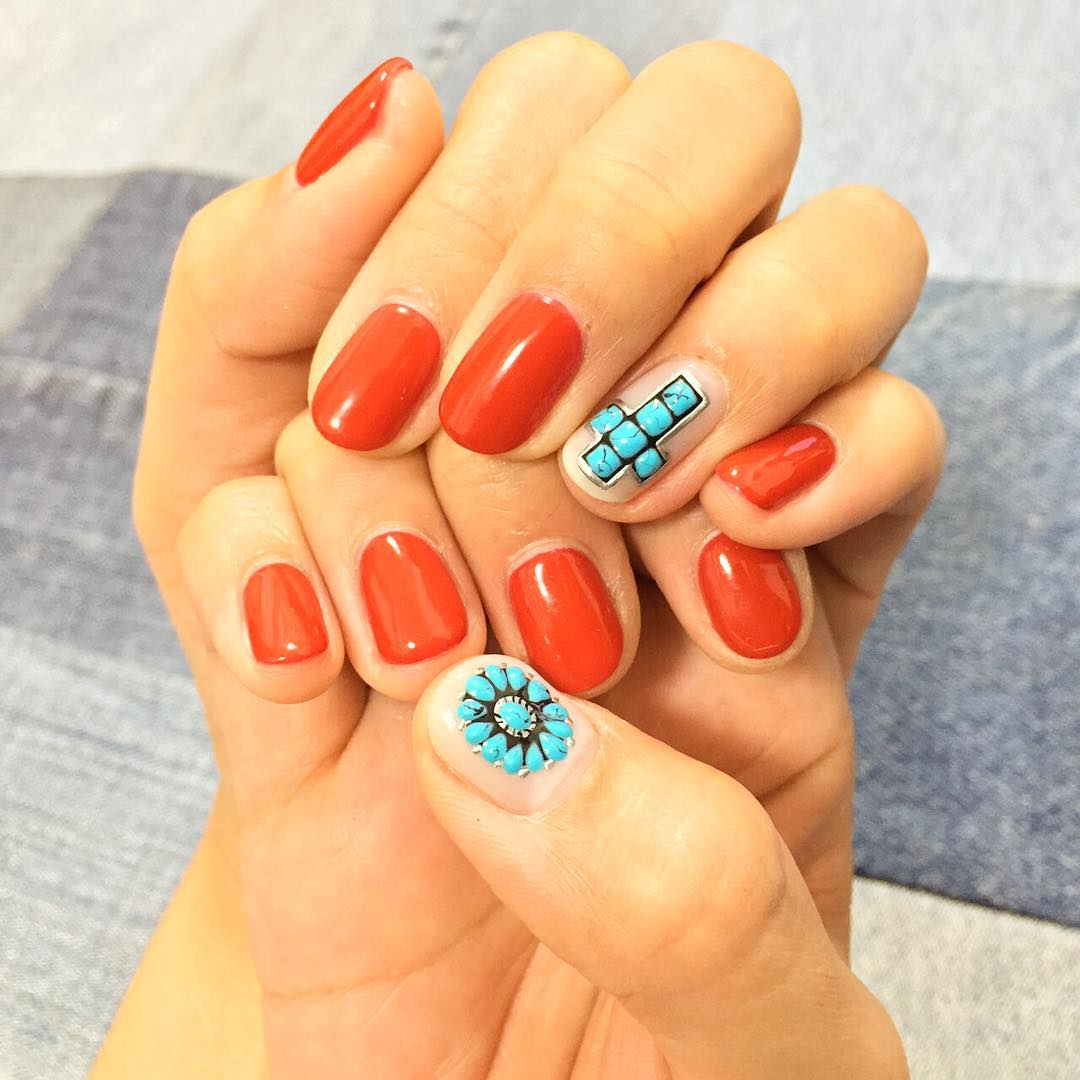 20 turquoise nail art designs ideas design trends