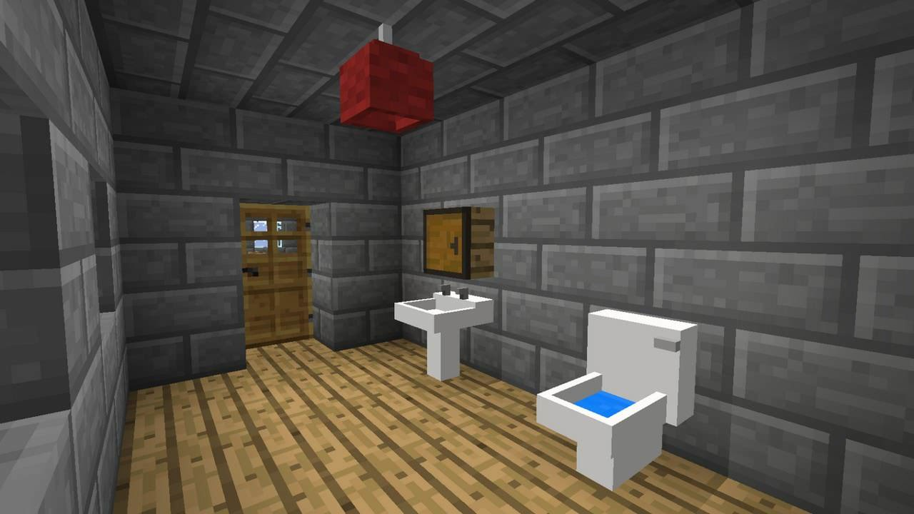 14 minecraft bathroom designs decorating ideas design for Home design xbox
