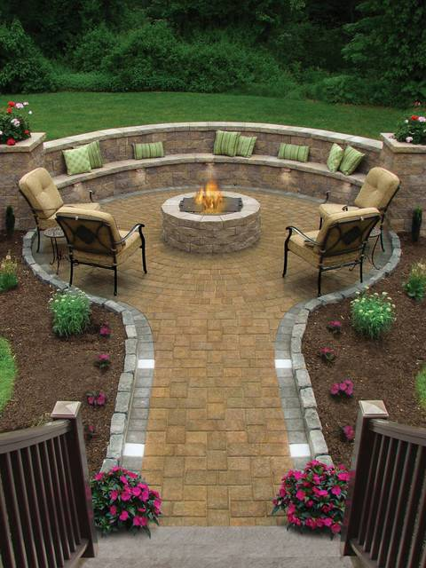 15fire pit traditional patio providence