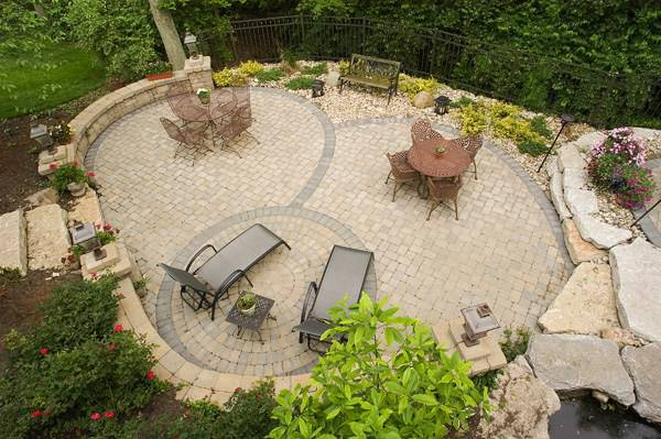 25large paver patio outdoor design build