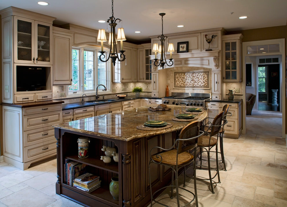 24 kitchen island designs decorating ideas design for Dark kitchen cabinets light island