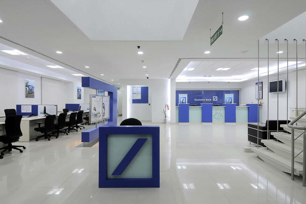 Minimalist Bank Interior Office Design