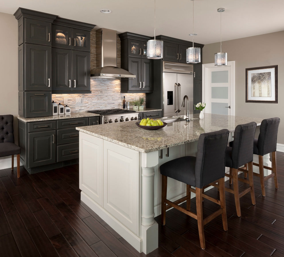 24 kitchen island designs decorating ideas design for Dark kitchen design ideas