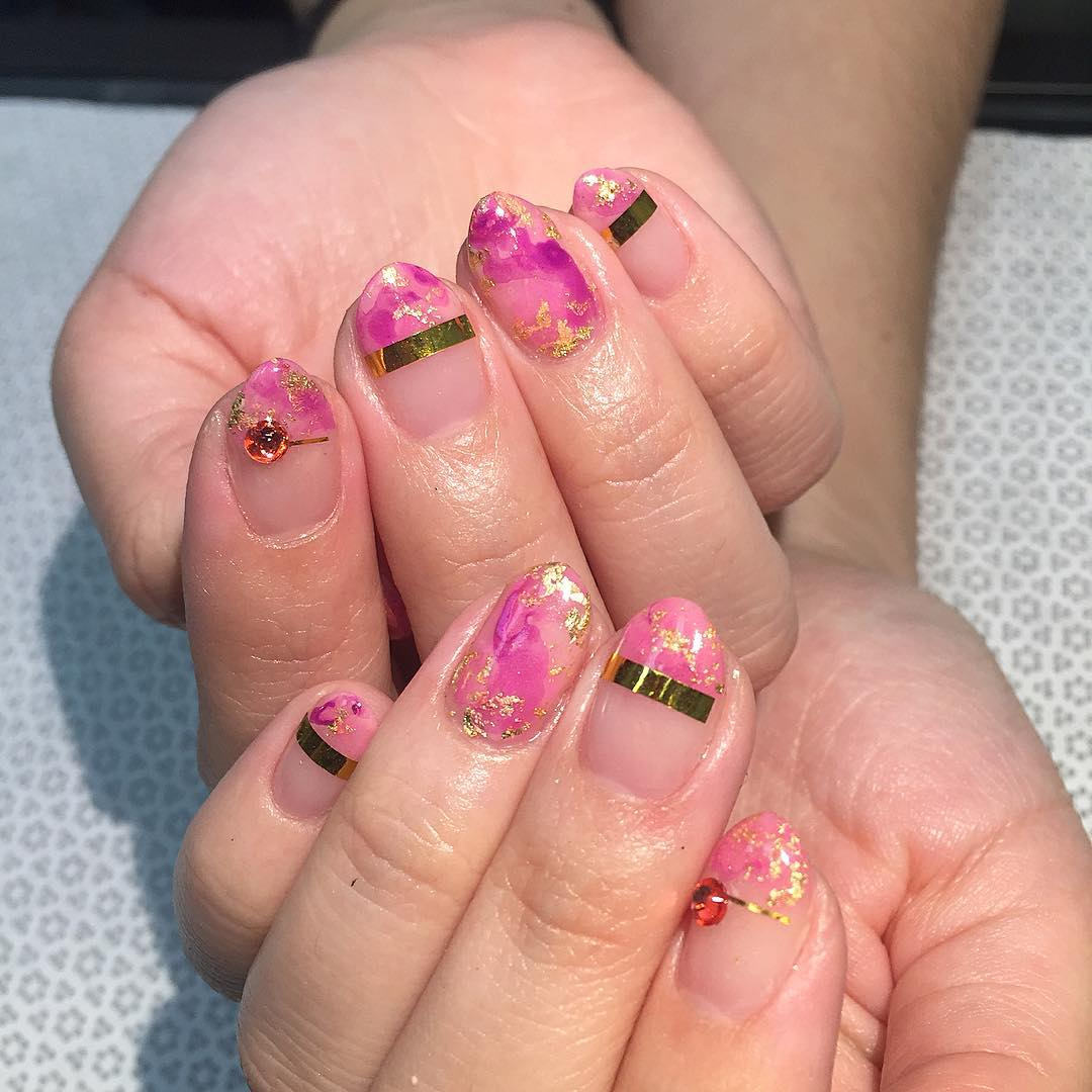 Pink Beautiful Fall Nails