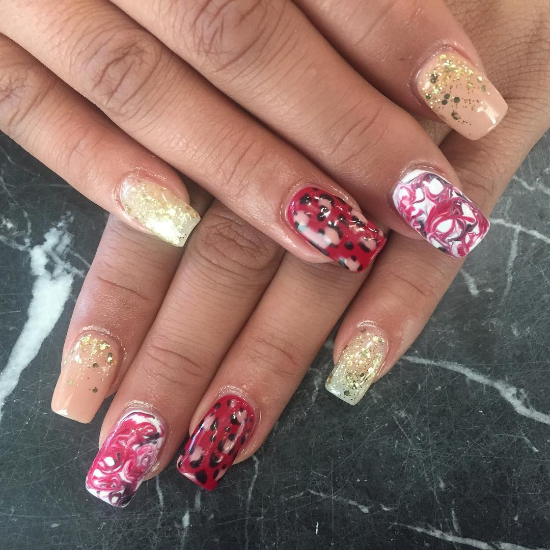 Multi Color Beautiful Fall Nails