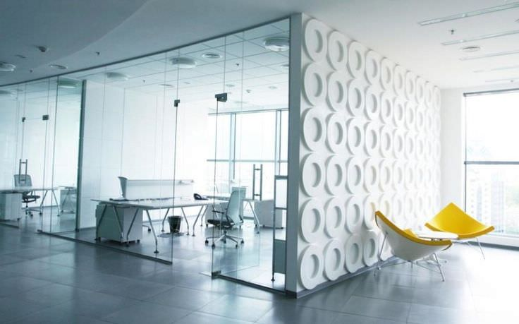 White Interior Minimalist Office Design