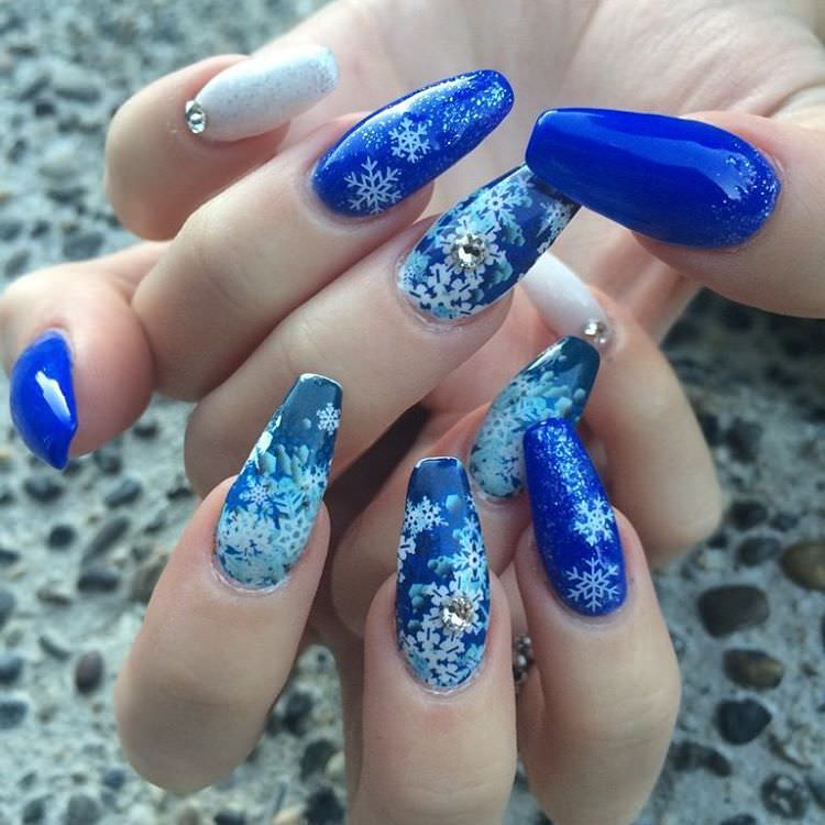 Blue Fall Nail Designs