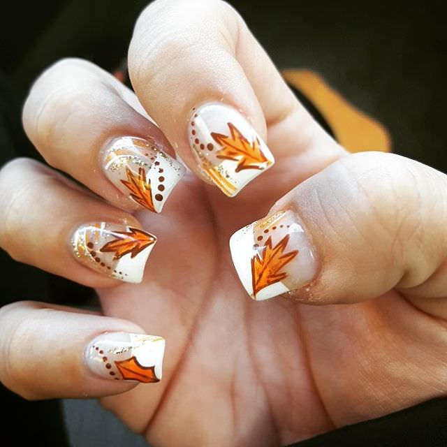 Yellow Fall Nail Design