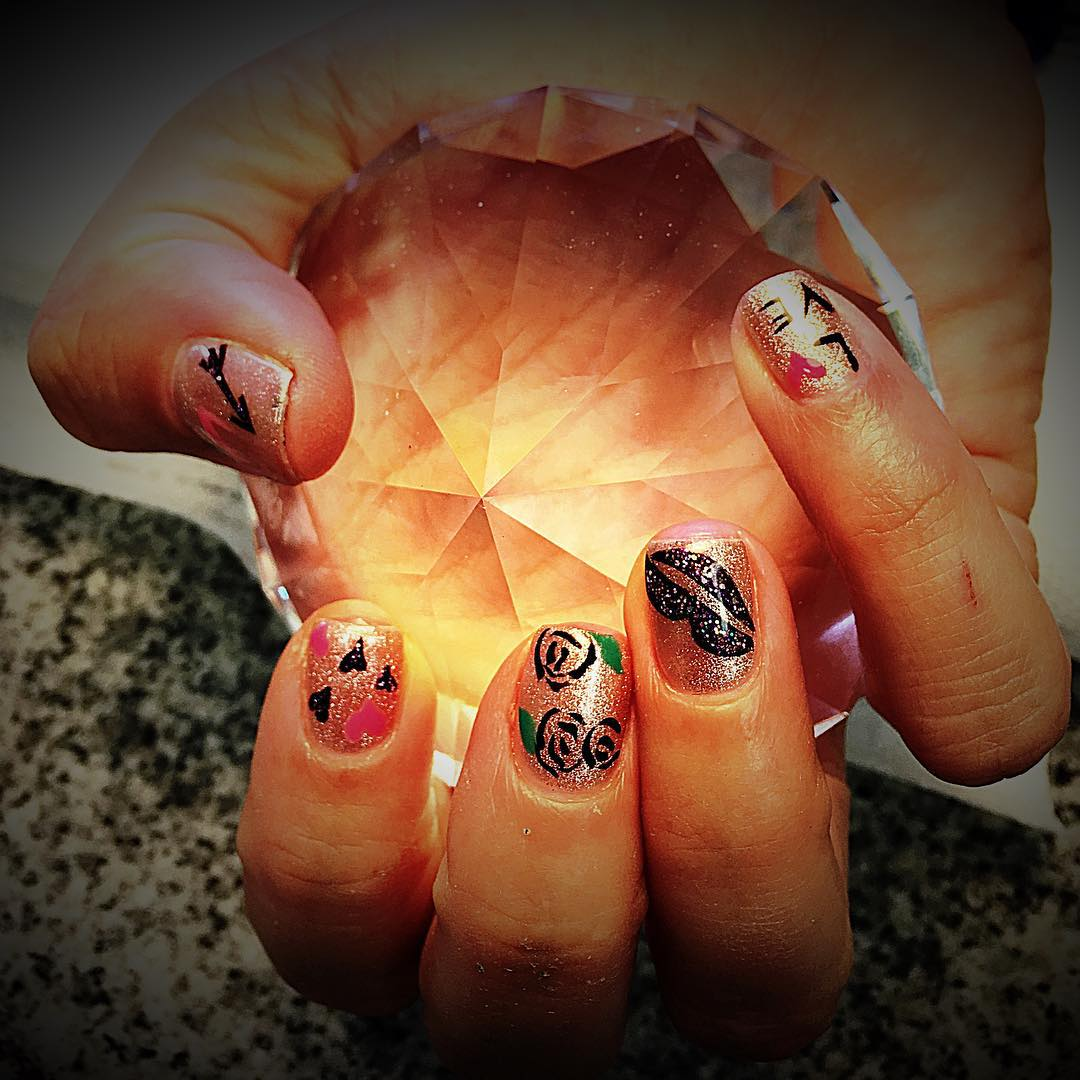 Flower Fall Nail Designs