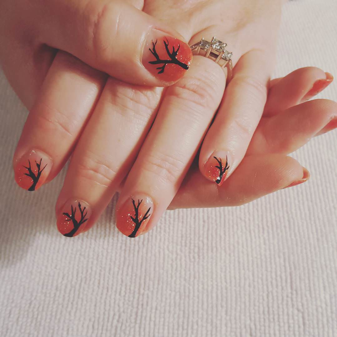Nice Color Fall Nail Design