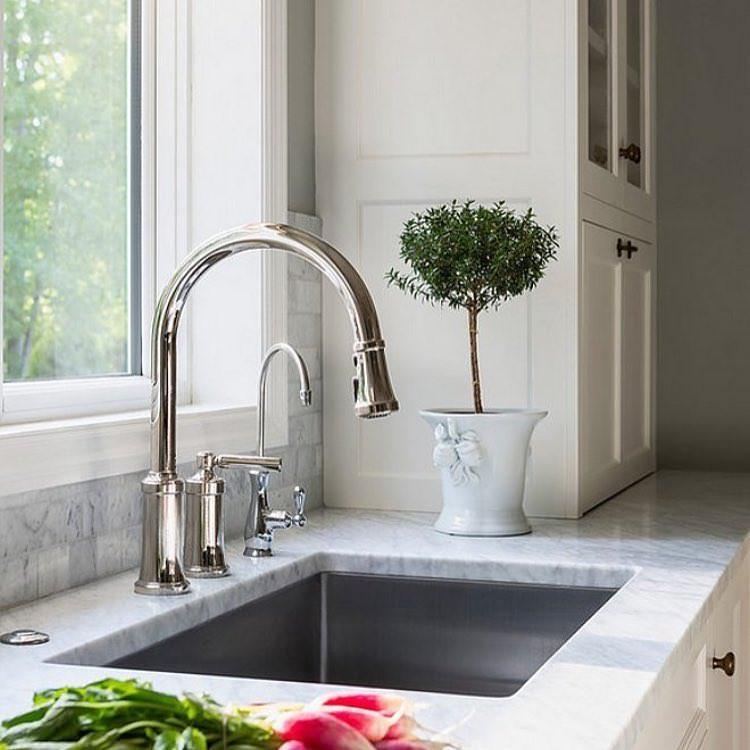 Simple Marble Kitchen Sink