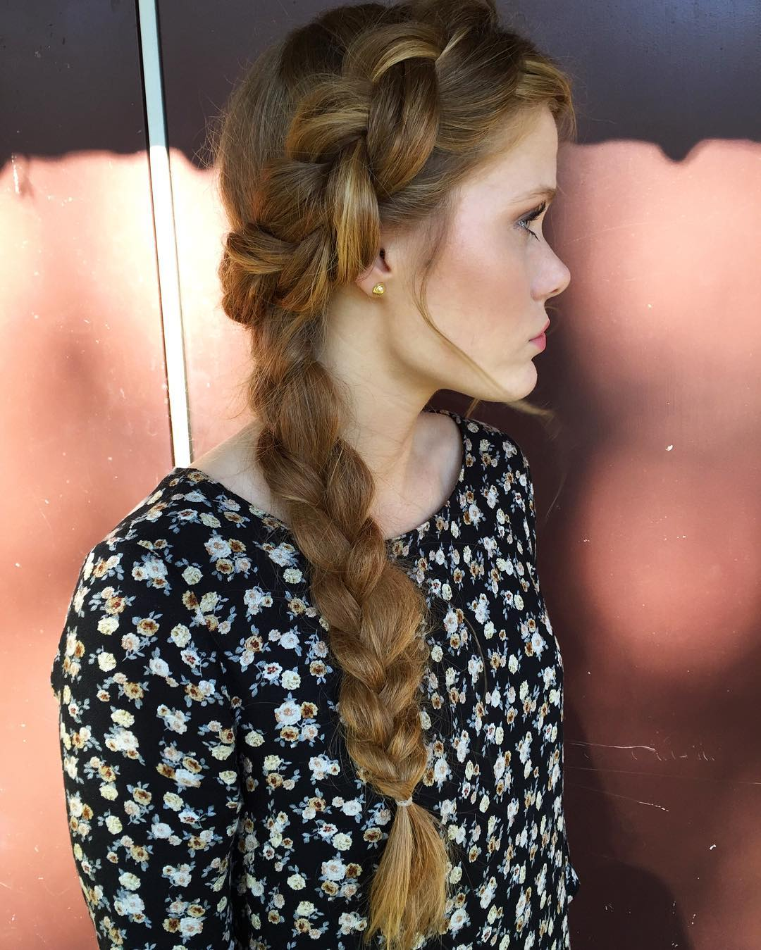 french side braid hairstyle