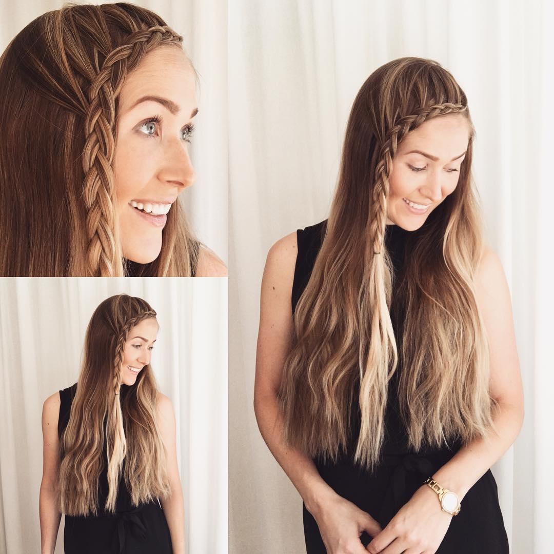 Beautiful Lace Side Braid