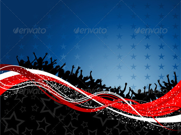 party patriotic background