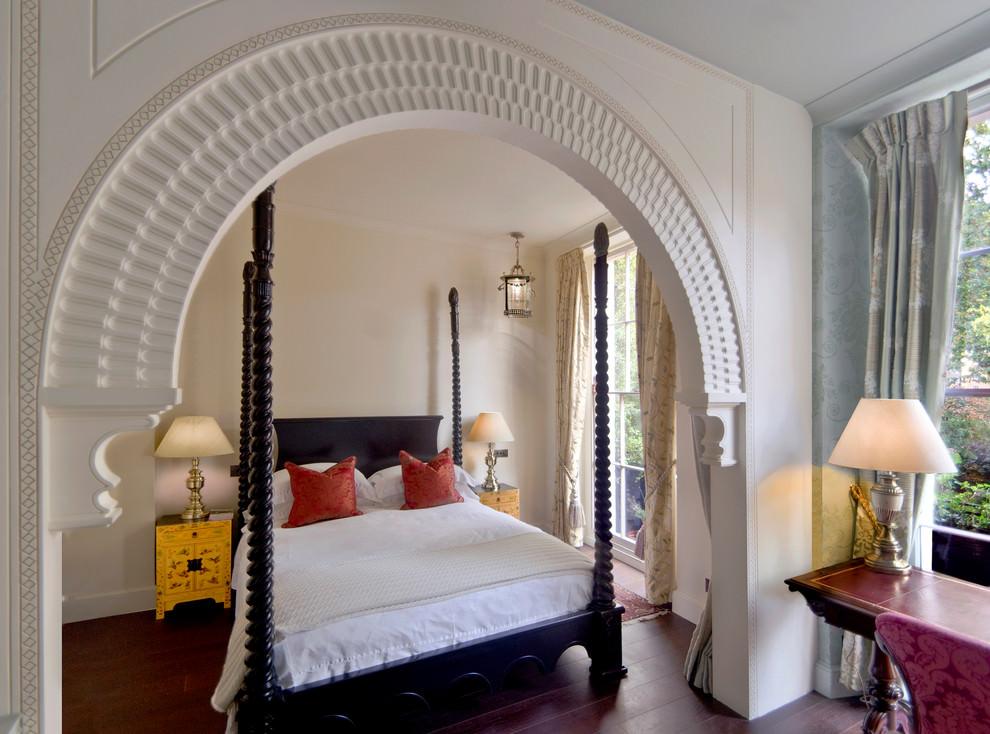 decorated mediterranean bedroom