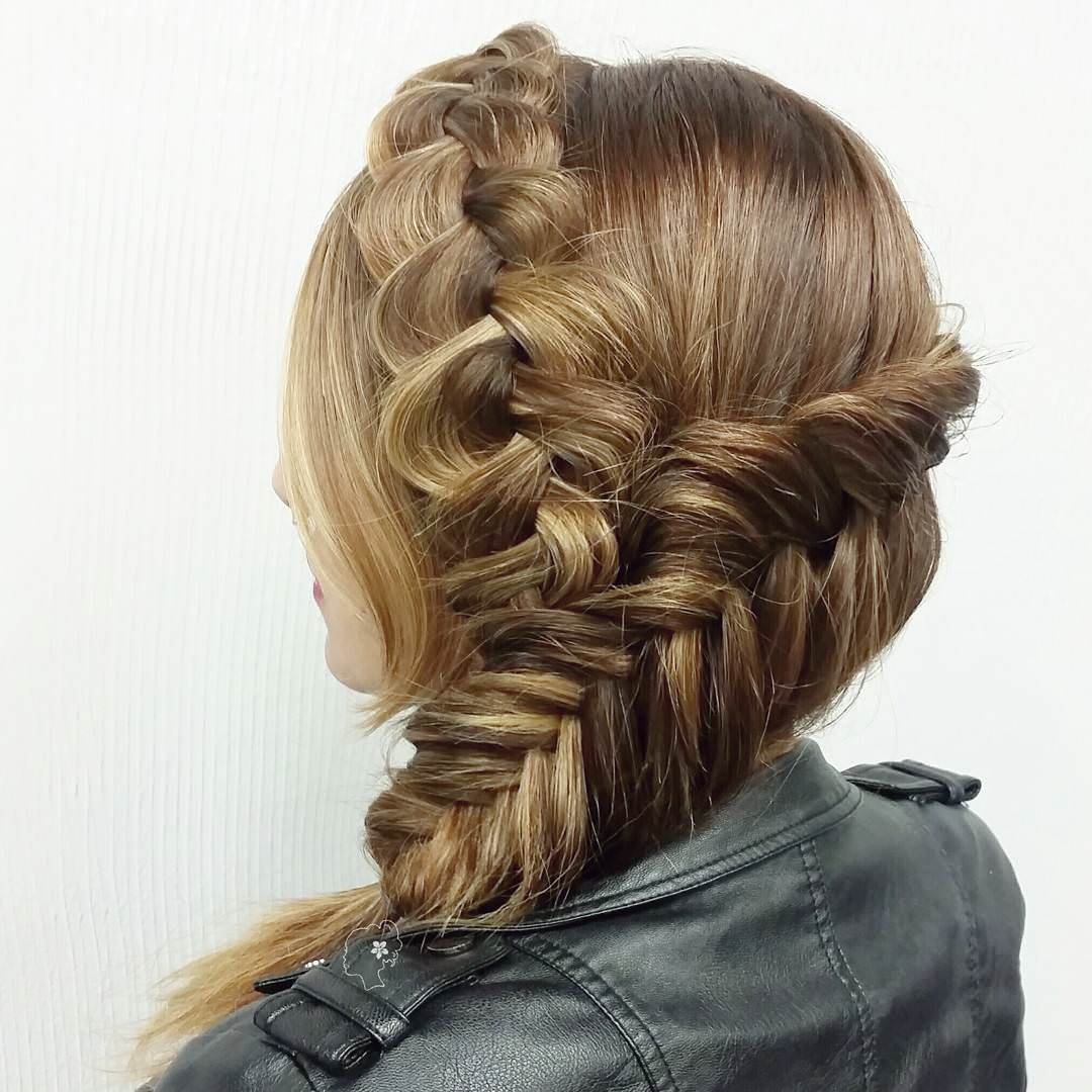 Dutch and Fishtail Combined Braid