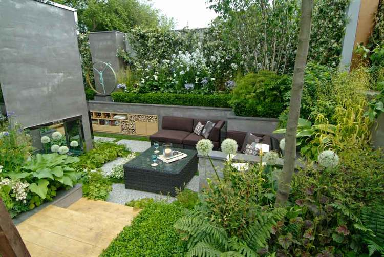 24 townhouse garden designs decorating ideas design for Urban garden design ideas