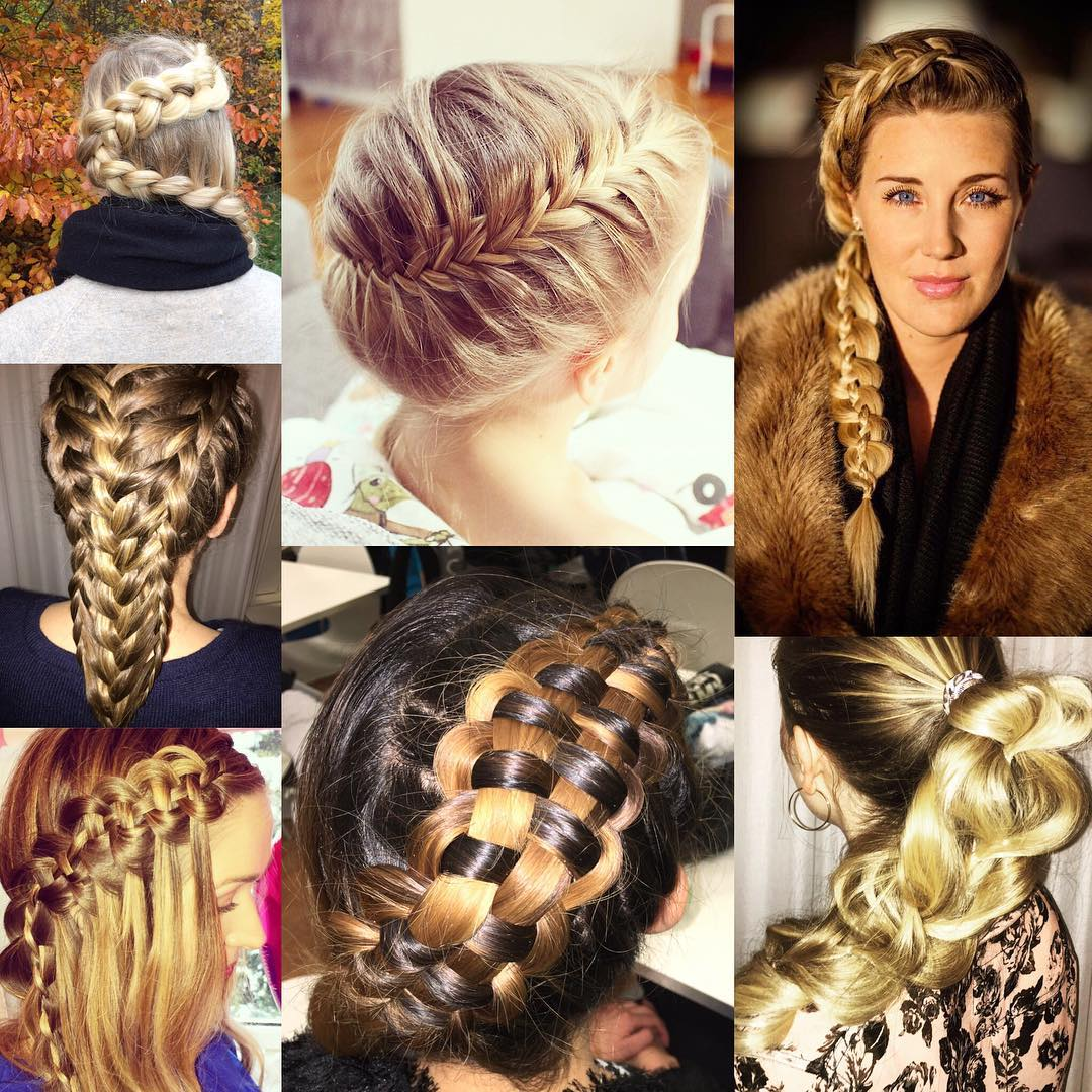 Different Side Braided Hairstyles