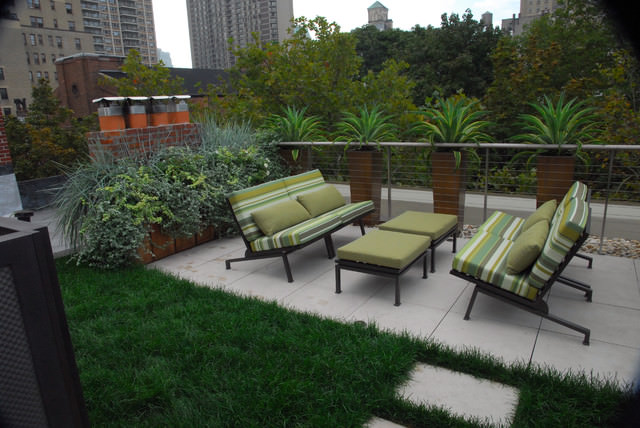 20new york townhouse rooftop modern garden