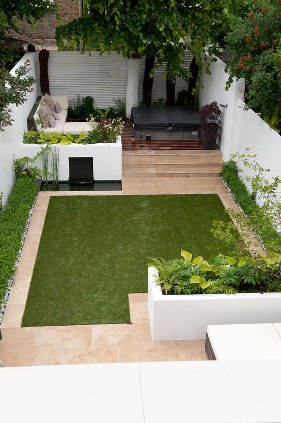 2awesome green townhouse garden
