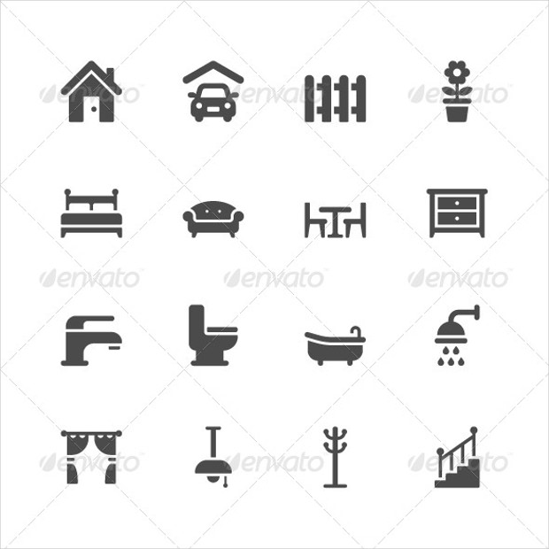 stylish icons for home