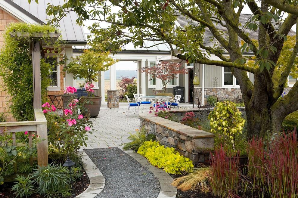 Countryside Rock Wall Garden