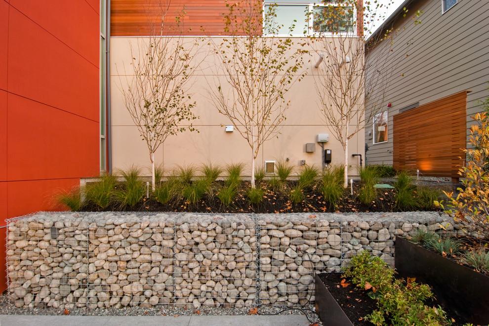 Contemporary Rock Wall Garden