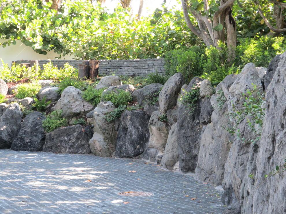 Stunning Rock Wall Garden