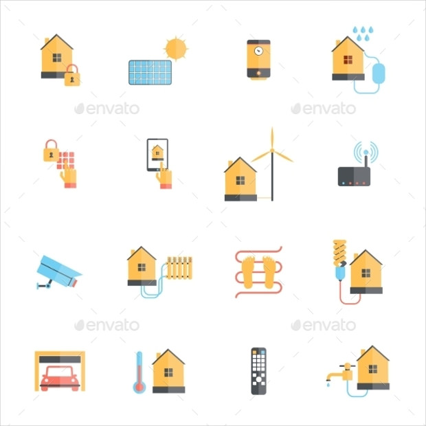 beautiful smart home icons