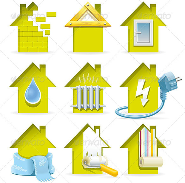 home construction icons