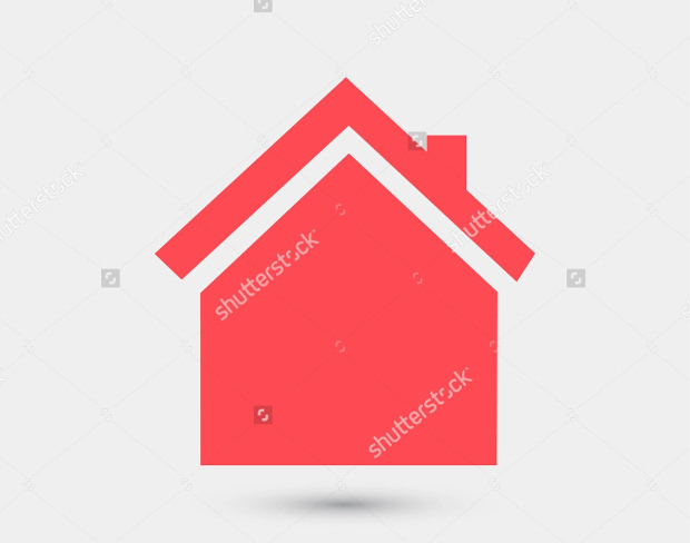 pink colored home icon