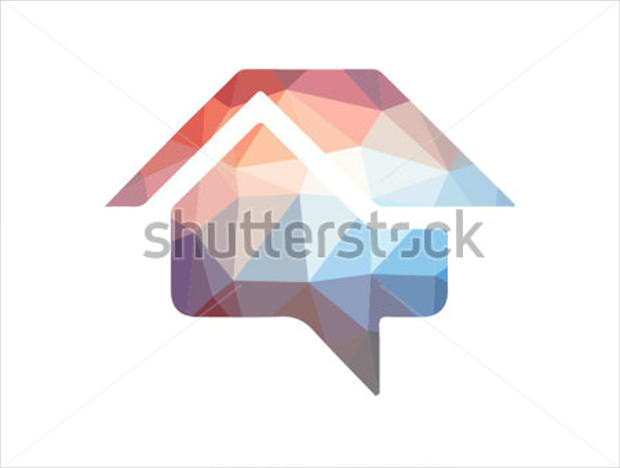 colorful vector home icon