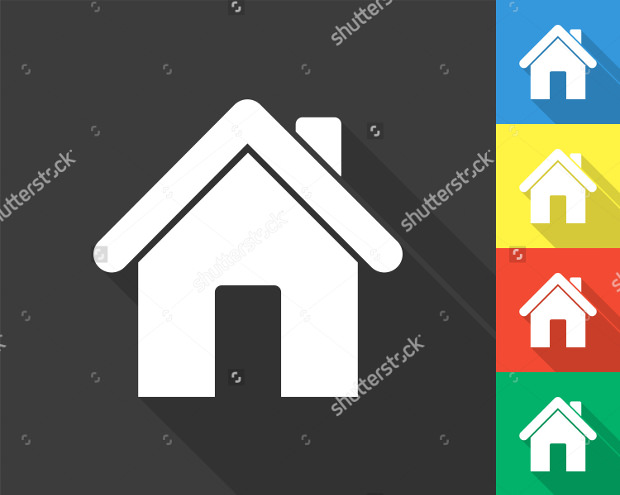 colored home icons
