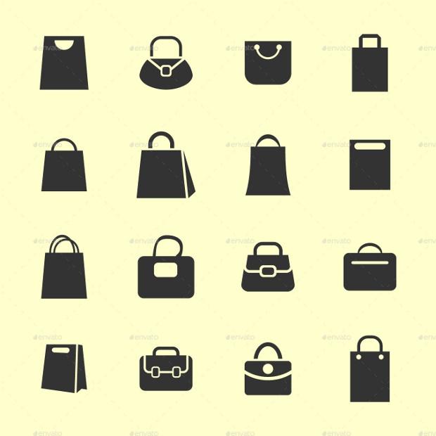 15+ Bag icons set