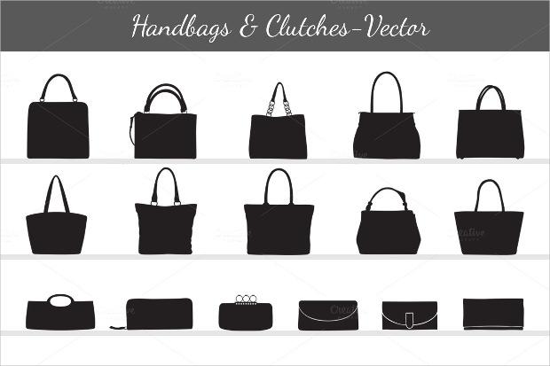 Women's Handbags & Clutches Vector