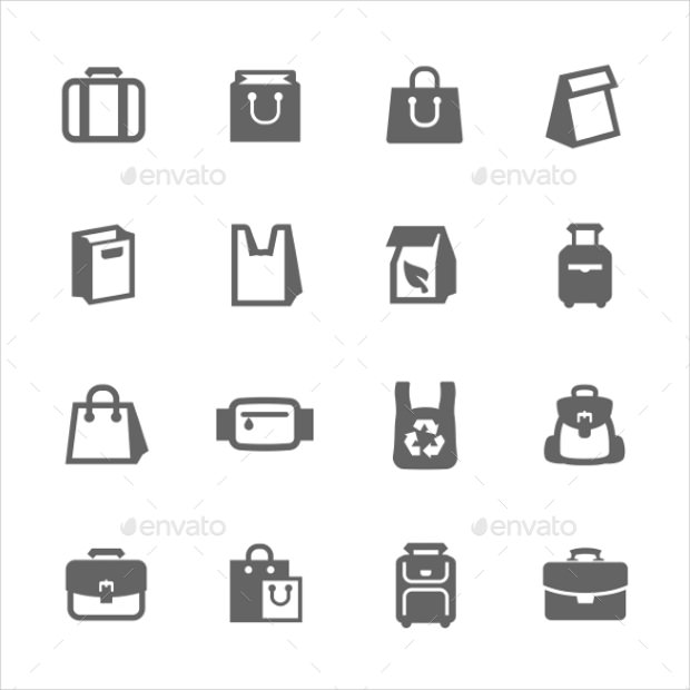 Simple Set of Bag Icons