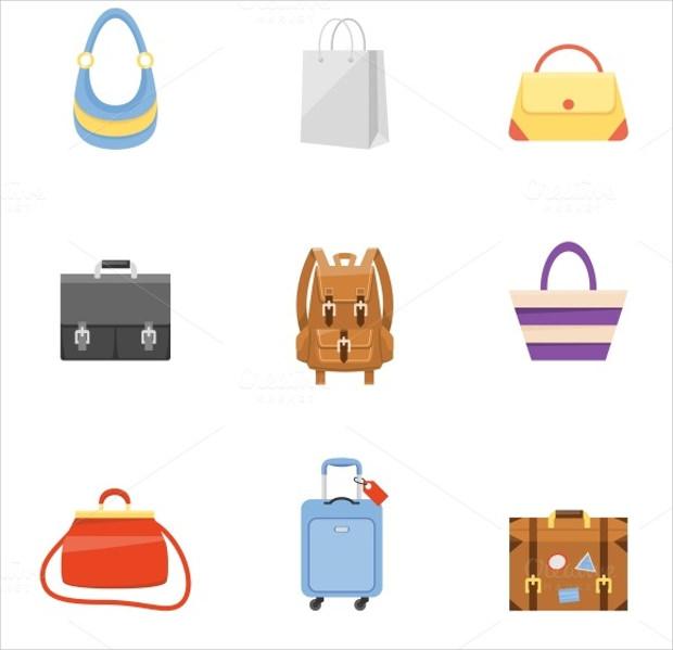 Bag icons set Download