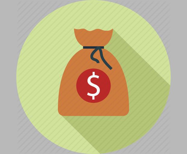 Dollars bag-money bag-moneybag icon